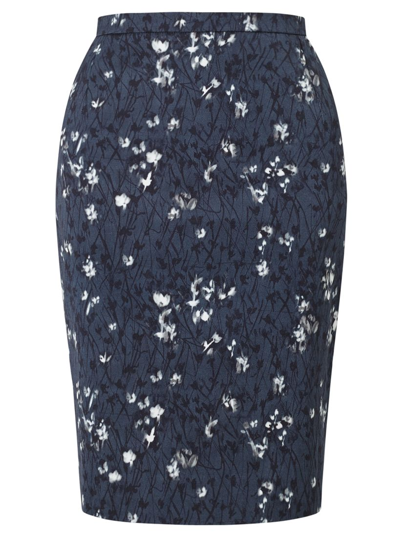 Jigsaw Cornflower Pencil Skirt Womens New Blue Blue Smoke