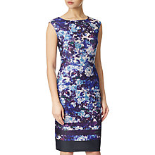 Buy Adrianna Papell Ikat Sheath Dress, Plum/Multi Online at johnlewis.com
