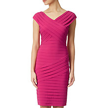 Buy Adrianna Papell Portrait Open Neck Matte Jersey Dress, Fuchsia Online at johnlewis.com