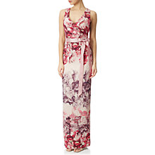 Buy Adrianna Papell Rose Print Column Dress, Shell/Multi Online at johnlewis.com