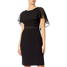Buy Adrianna Papell Crepe Capelet Sheath Dress, Black Online at johnlewis.com