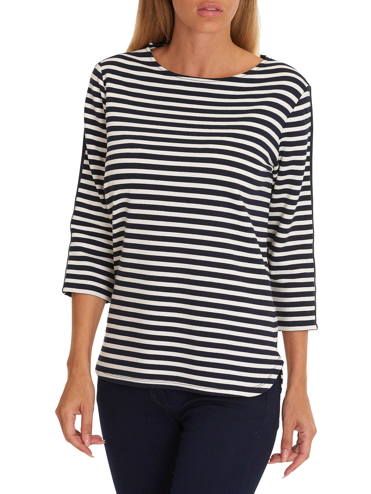 Buy Betty Barclay Striped Top, Dark Blue/Cream, 8 Online at johnlewis.com