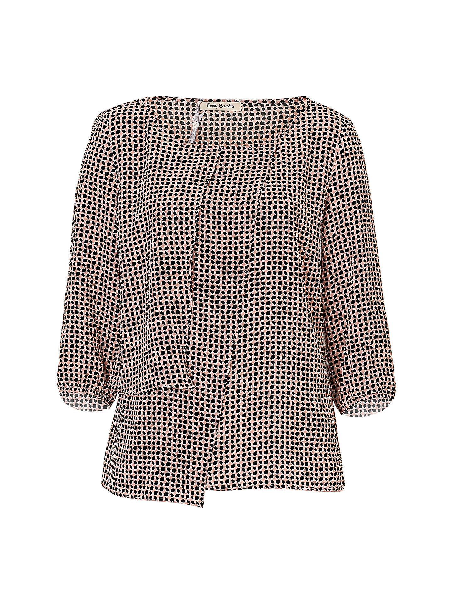 BuyBetty Barclay Wrap Effect Blouse, Black/Rosé, 8 Online at johnlewis.com