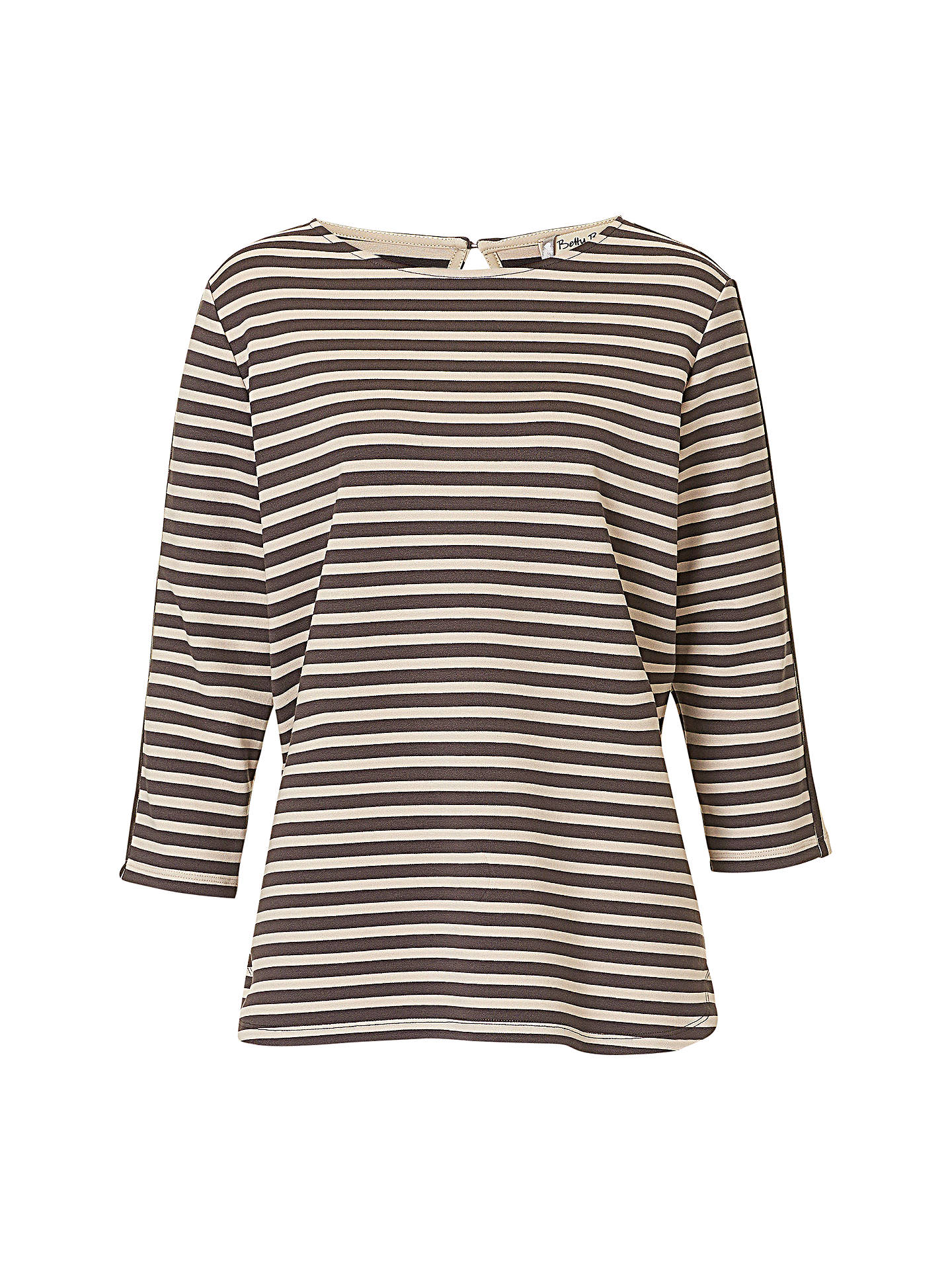 BuyBetty Barclay Striped Top, Grey/Beige, 8 Online at johnlewis.com