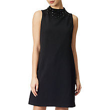 Buy Adrianna Papell Beaded Neckline Trapeze Dress, Black Online at johnlewis.com