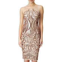Buy Adrianna Papell Sequin Panel Illusion Cocktail Dress Online at johnlewis.com