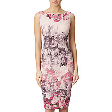 Buy Adrianna Papell Rose Print Sleeveless Sheath Dress, Shell/Multi Online at johnlewis.com