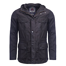 Buy Barbour Greatcoat Beaumaris Cotton Jacket, Navy Online at johnlewis.com