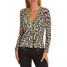 Buy Betty Barclay Animal Print Cardigan, Beige/Black Online at johnlewis.com