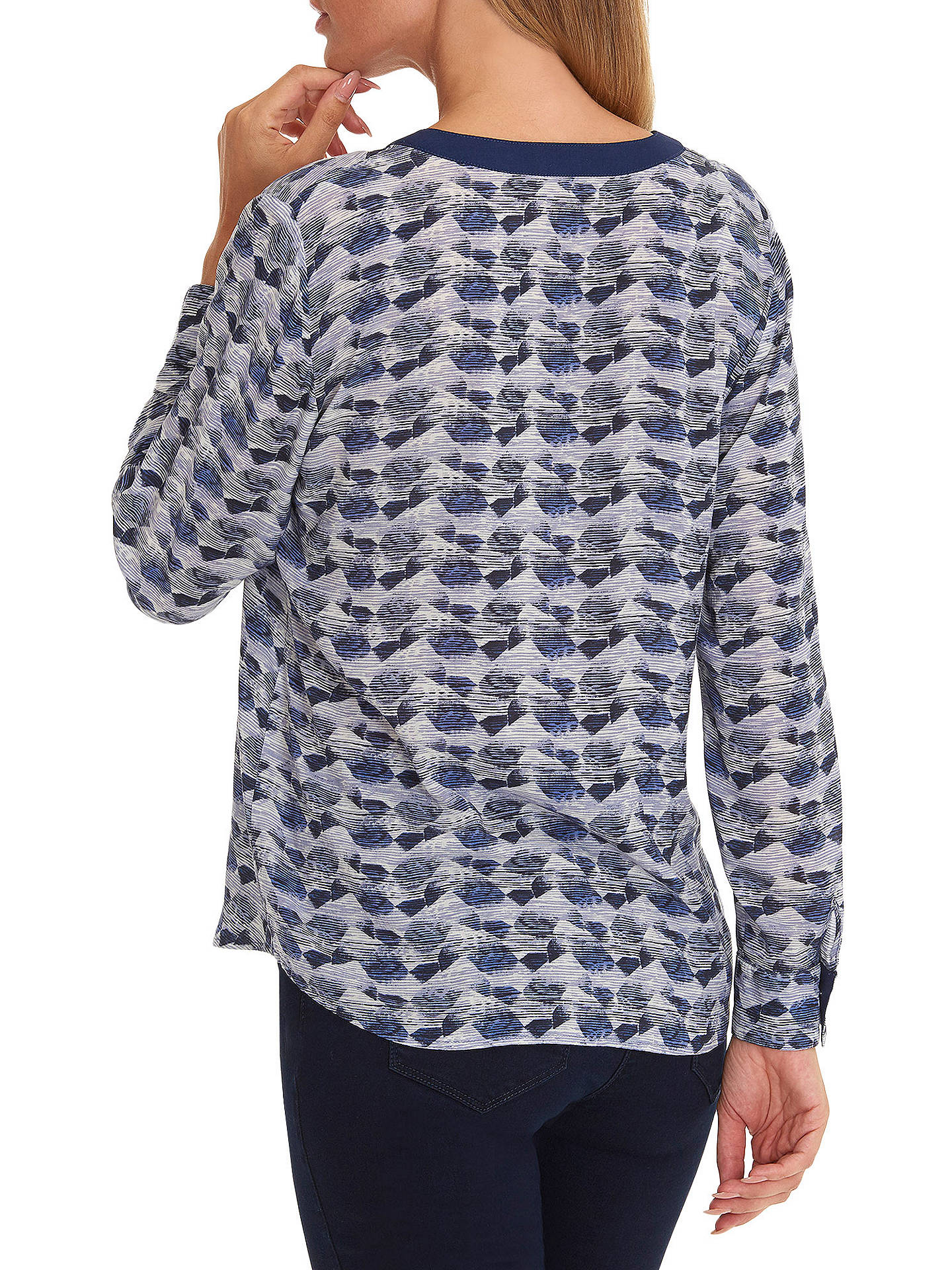 BuyBetty Barclay Graphic Print Blouse, Blue/Cream, 10 Online at johnlewis.com