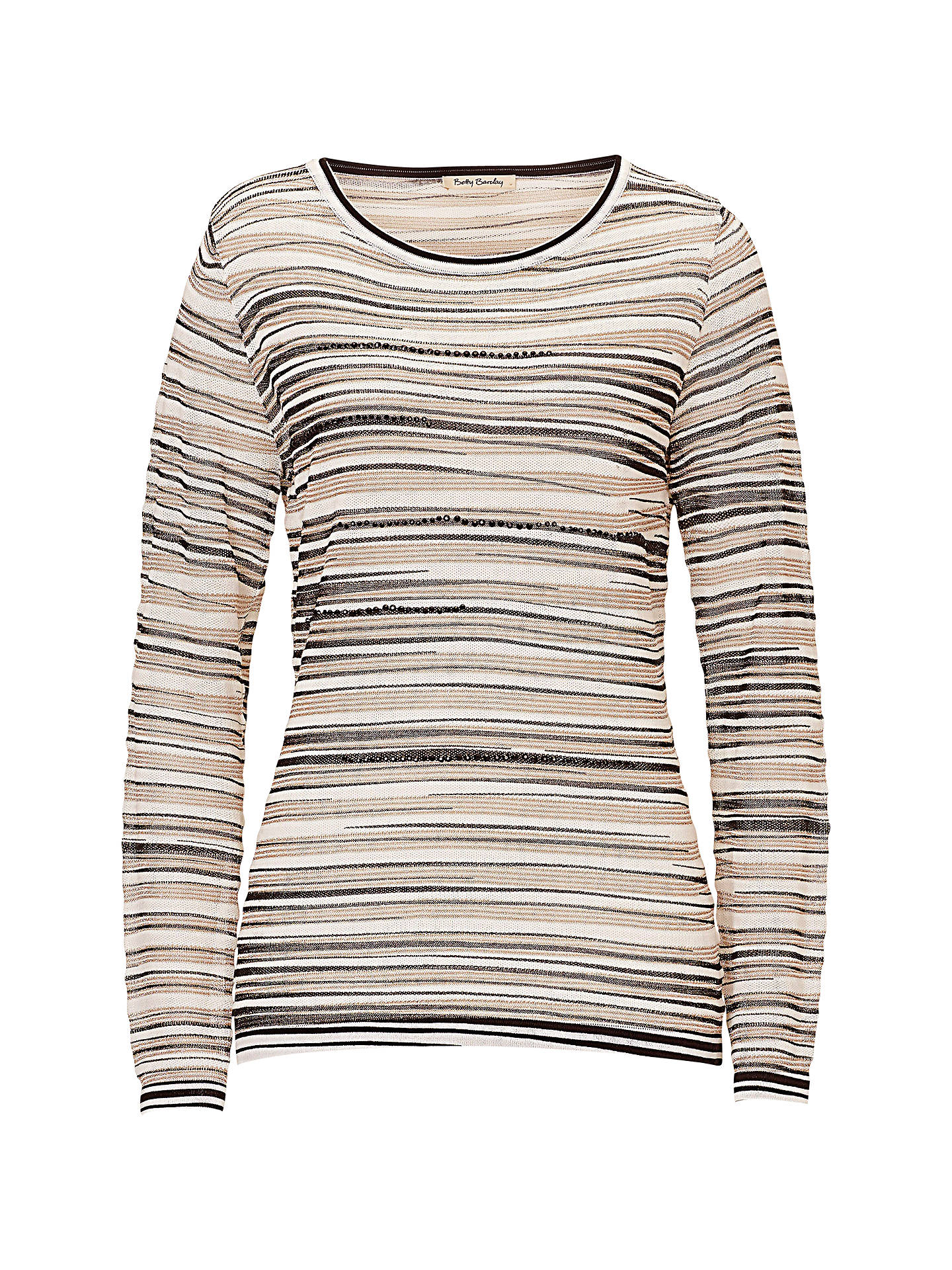 Buy Betty Barclay Metallic Stripe Top, Cream/Black, 10 Online at johnlewis.com