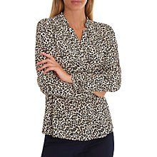 Buy Betty Barclay Animal Print Blouse, Beige/Black Online at johnlewis.com