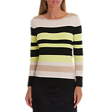 Buy Betty Barclay Stripe Jumper, Black/Beige Online at johnlewis.com