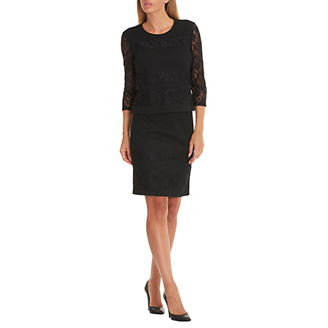 Buy Betty Barclay Textured Lace Skirt, Black Online at johnlewis.com