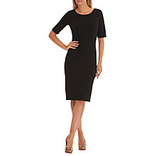 Buy Betty Barclay Fine Ribbed Dress, Black Online at johnlewis.com