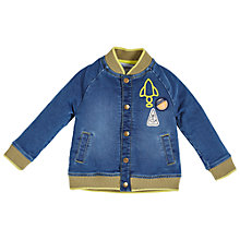 Buy Angel & Rocket Baby Denim Jersey Bomber Jacket, Blue Online at johnlewis.com