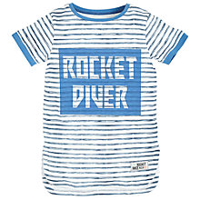 Buy Angel & Rocket Boys' Rocket Diver Striped T-Shirt, Multi Online at johnlewis.com
