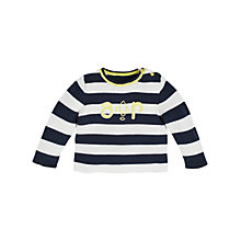 Buy Angel & Rocket Baby Theo Striped Jumper, Navy/Multi Online at johnlewis.com