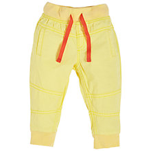 Buy Angel & Rocket Baby Noah Woven Twill Joggers, Yellow Online at johnlewis.com