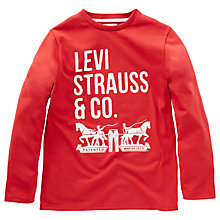 Buy Levi's Boys' Nigelong Long Sleeve T-Shirt Online at johnlewis.com