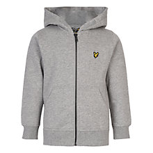 Buy Lyle & Scott Boys' Zip Through Hoodie, Grey Online at johnlewis.com