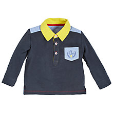 Buy Angel & Rocket Baby Rugby Shirt, Blue/Multi Online at johnlewis.com