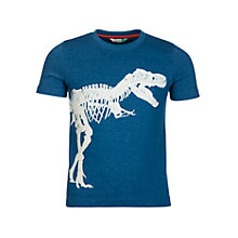 Buy John Lewis Boys' Dinosaur T-Rex Graphic Glow In The Dark T-Shirt, Blue Online at johnlewis.com