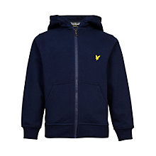 Buy Lyle & Scott Boys' Zip Through Hoodie, Deep Indigo Online at johnlewis.com