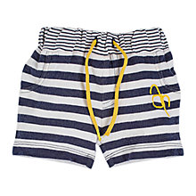 Buy Angel & Rocket Baby Harrison Striped Shorts, Navy/White Online at johnlewis.com