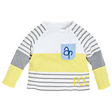 Buy Angel & Rocket Baby Cut About Jersey T-Shirt, Yellow/Multi Online at johnlewis.com