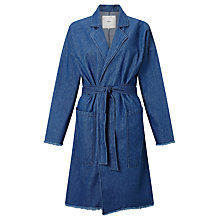 Buy Minimum Majbrit Long Denim Jacket, Dark Blue Online at johnlewis.com