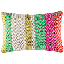 Buy Kas Harris Stripe Cotton Knit Cushion Online at johnlewis.com