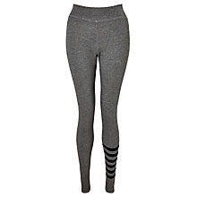 Buy Sundry Stripe Leg Yoga Pants, Heather Grey Online at johnlewis.com