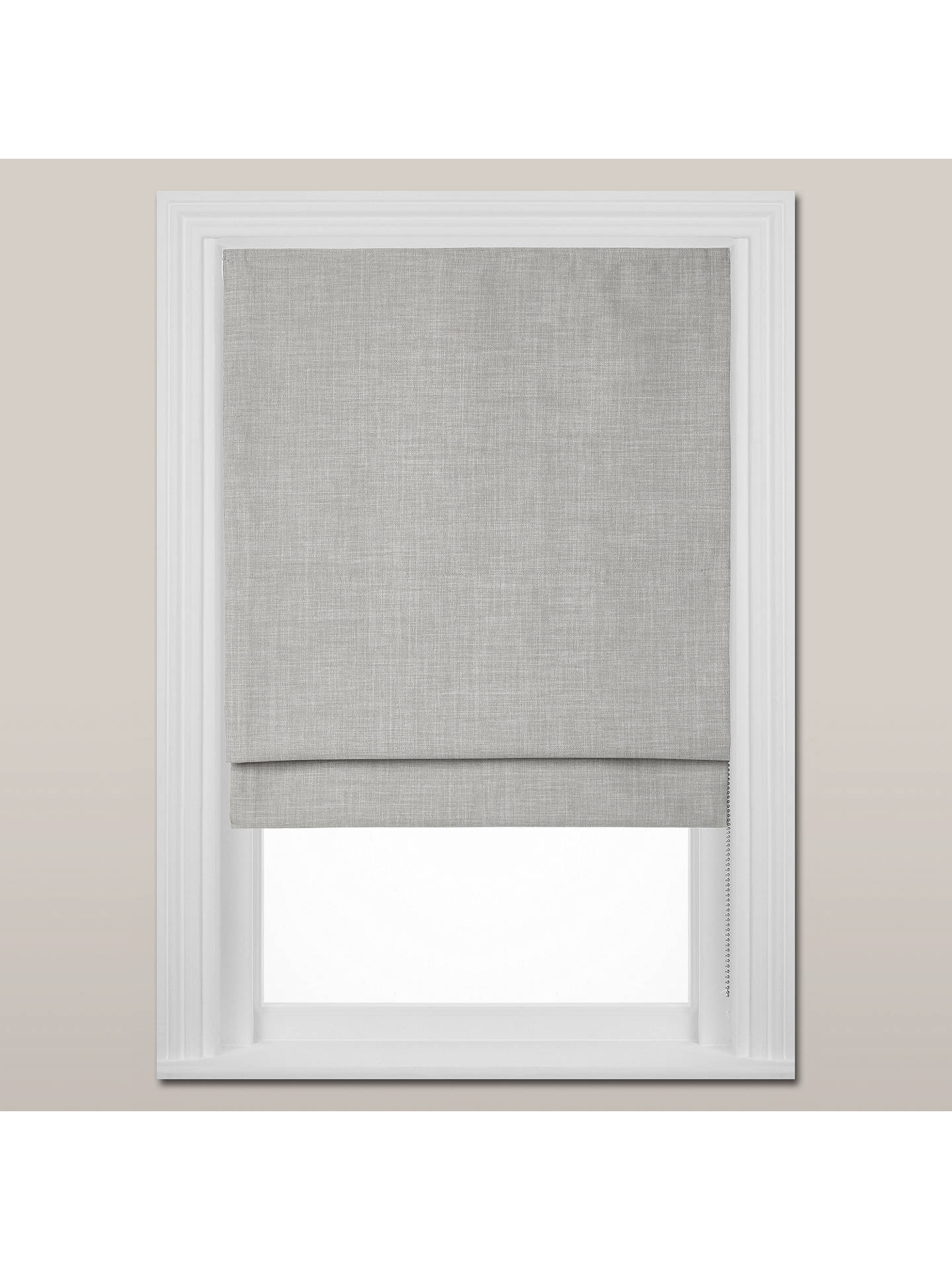 BuyCroft Collection Shawford Blackout Roman Blind, Grey, W120cm Online at johnlewis.com