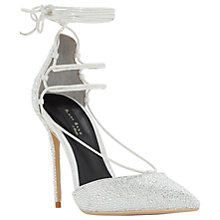 Buy Dune Black Sand Duchess Embellished Court Shoes, Silver Online at johnlewis.com