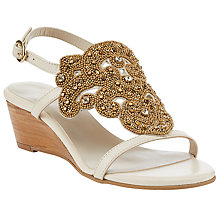 Buy John Lewis Iona Beaded Wedge Heeled Sandals Online at johnlewis.com