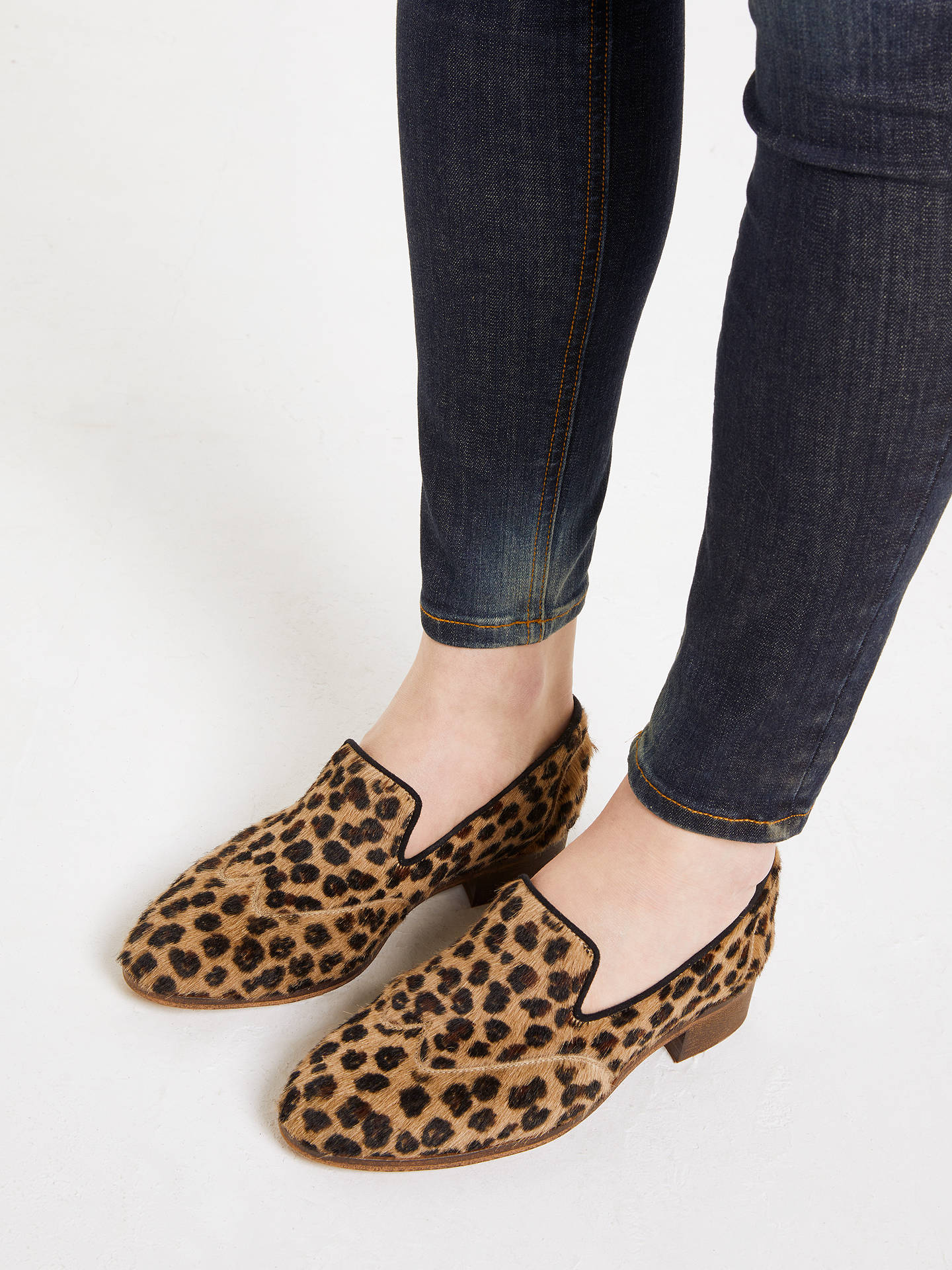 BuyAND/OR Guido Brogue Detail Loafers, Leopard, 4 Online at johnlewis.com