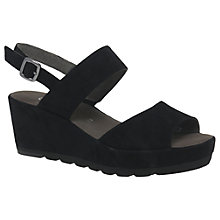 Buy Gabor Study Double Strap Wedge Heeled Sandals Online at johnlewis.com