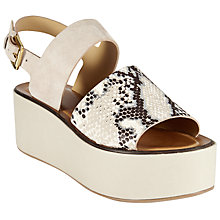 Buy Modern Rarity J Mara Flatform Sandals, Black Online at johnlewis.com