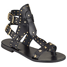 Buy Somerset by Alice Temperley Litton Studded Gladiator Sandals, Black Online at johnlewis.com