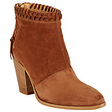 Buy AND/OR Tierra Whipstitch Detail Ankle Boots, Brown Online at johnlewis.com