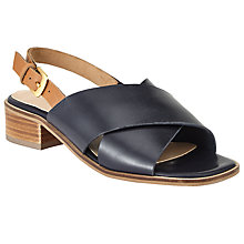 Buy John Lewis Ivy Cross Strap Sandals, Navy/Tan Online at johnlewis.com