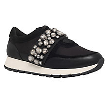 Buy KG by Kurt Geiger Lovely Embellished Trainers, Black Online at johnlewis.com