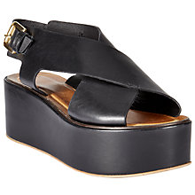 Buy Modern Rarity J Mercedes Flatform Sandals, Black Online at johnlewis.com