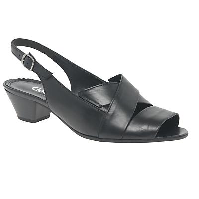 Gabor Nanook Extra Wide Fit Block Heeled Sandals, Black