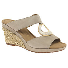 Buy Gabor Sizzle Wide Fit Wedge Heeled Sandals, Beige Online at johnlewis.com