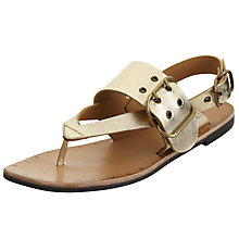 Buy Modern Rarity Mona Toe Post Buckle Sandals, Gold Online at johnlewis.com