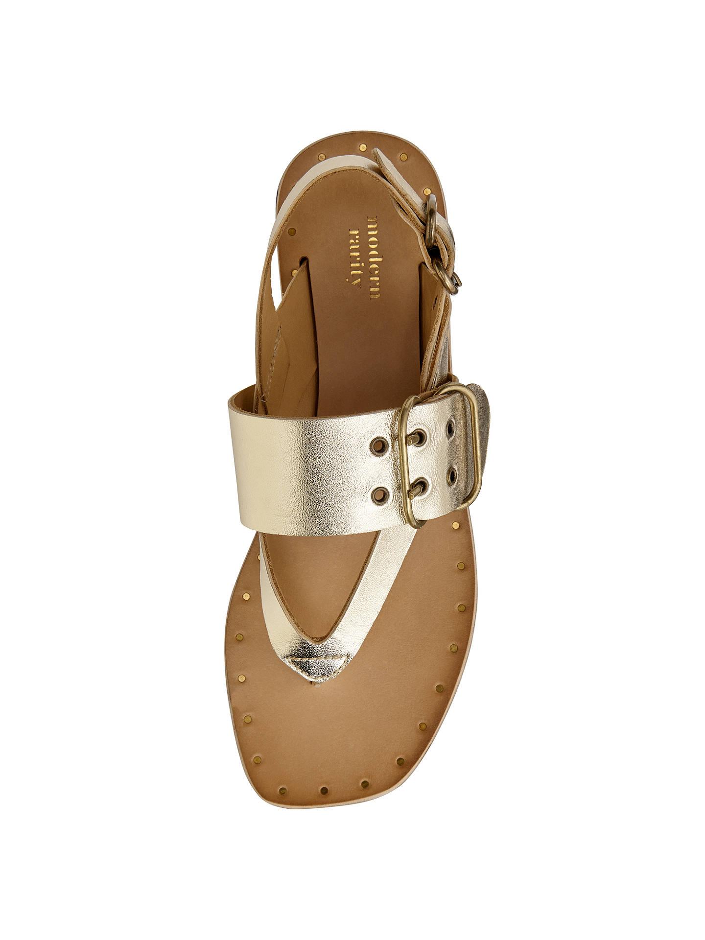 71fa8ff3d453 Buy Modern Rarity Mona Toe Post Buckle Sandals