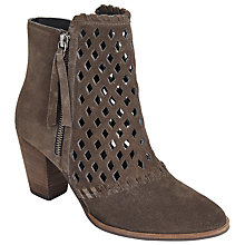 Buy AND/OR Tros Cut Out Ankle Boots, Grey Online at johnlewis.com