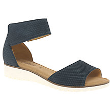 Buy Gabor Penny Wedge Heeled Sandals, Night Blue Online at johnlewis.com